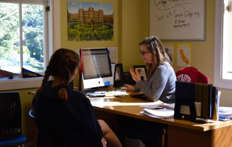 College reps visit College Center to meet prospective students
