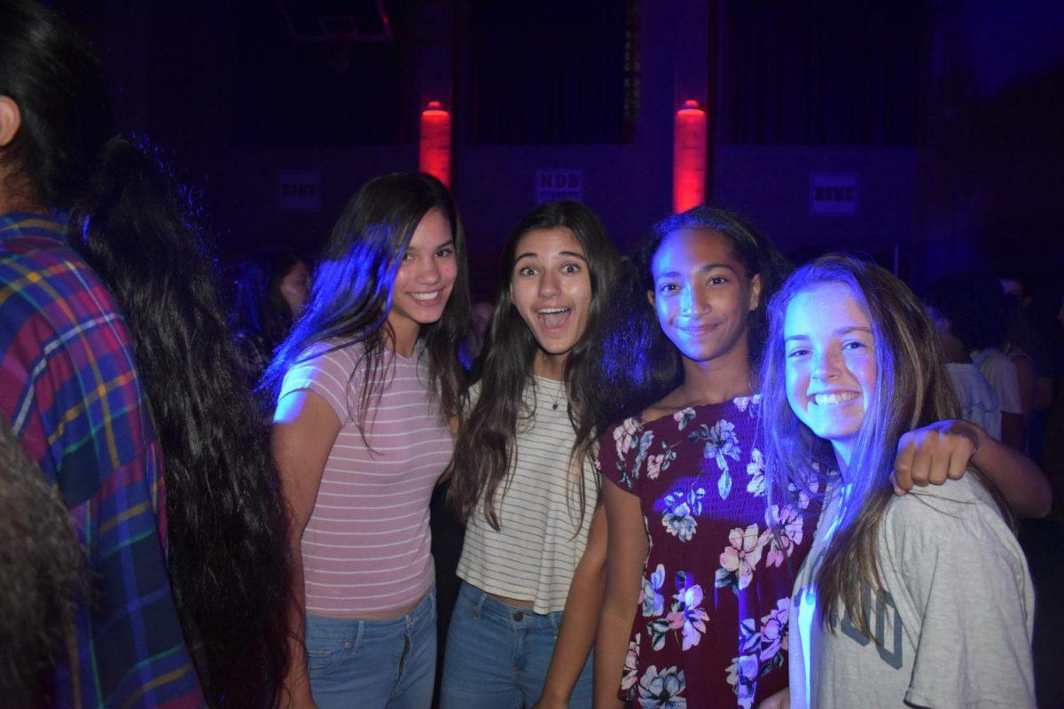 Freshmen+friends+smile+at+the+Frosh+Social.