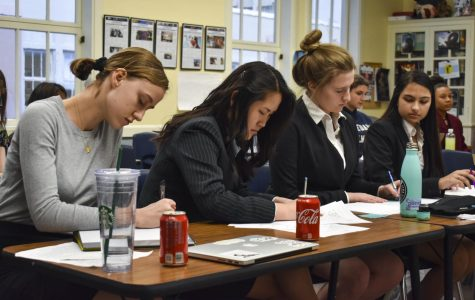 The Mock Trial team gets its day in court during annual competition
