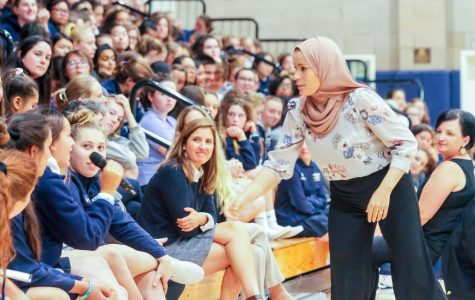 Peace activist speaks to student body