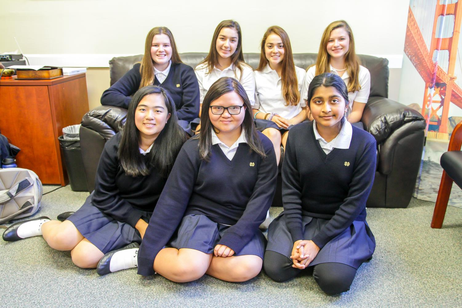 The newly elected student leaders of the freshman class council are ready.