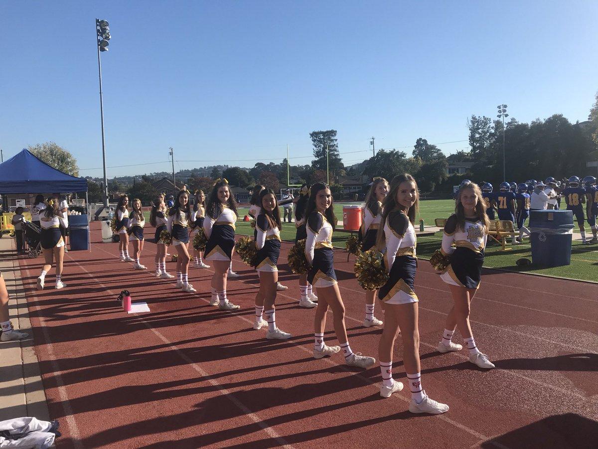 NDB cheerleaders at Serra Homecoming Photo courtesy of NDB Athletics Twitter