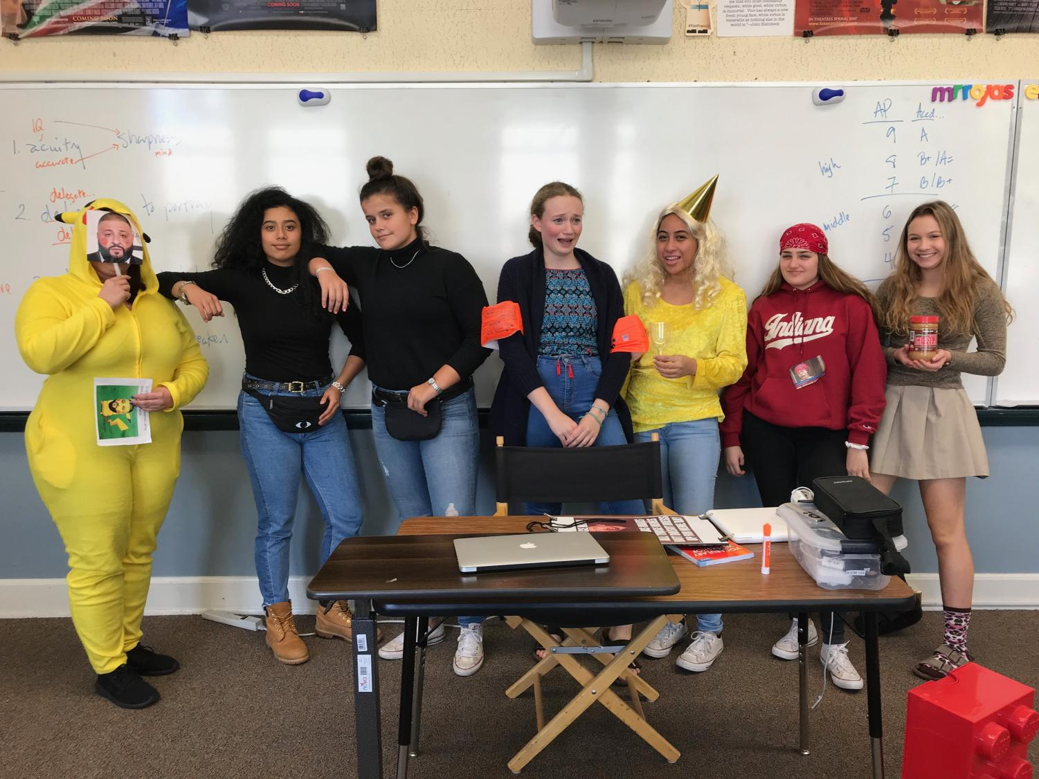 Teachers and students dressed up for last year's theme day