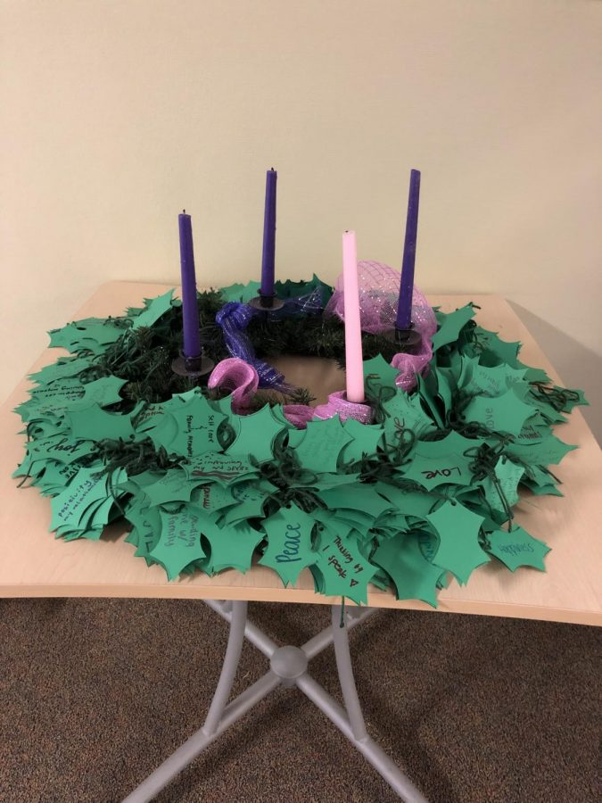 The Advent wreath symbolizes the four weeks that pass before Christmas.