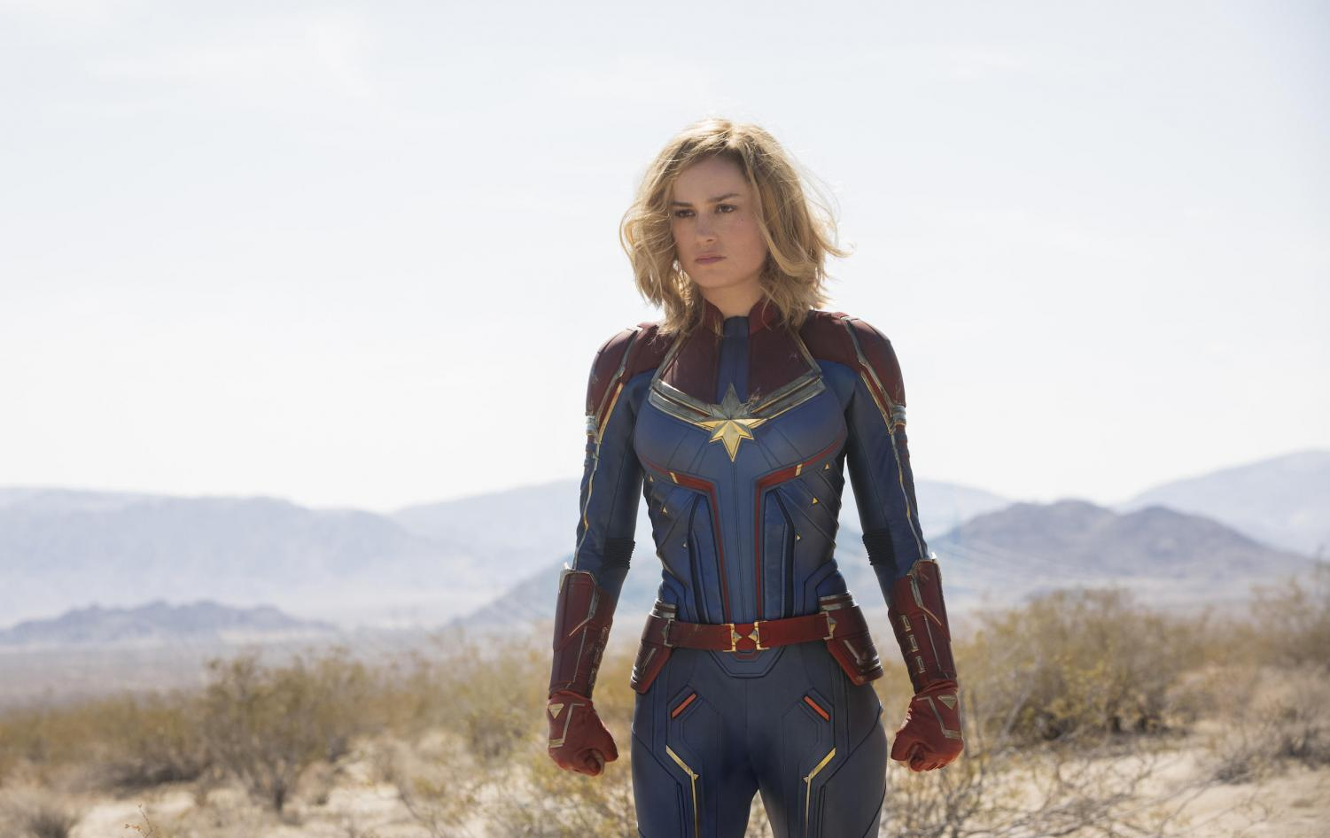 Brie Larson stars as Captain Marvel.