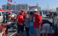 Junior Maddie Perry poses with family and friends at one of last season's 49ers games.