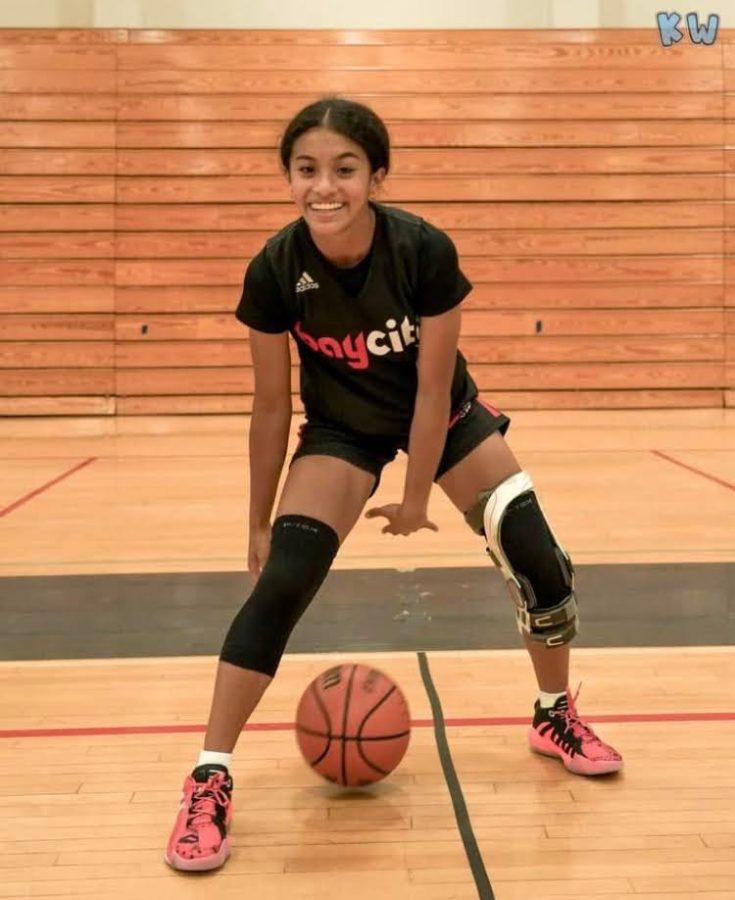 Senior+Alaiyah+San+Juan+hopes+to+take+her+basketball+journey+to+the+next+level+through+athletic+recruiting.