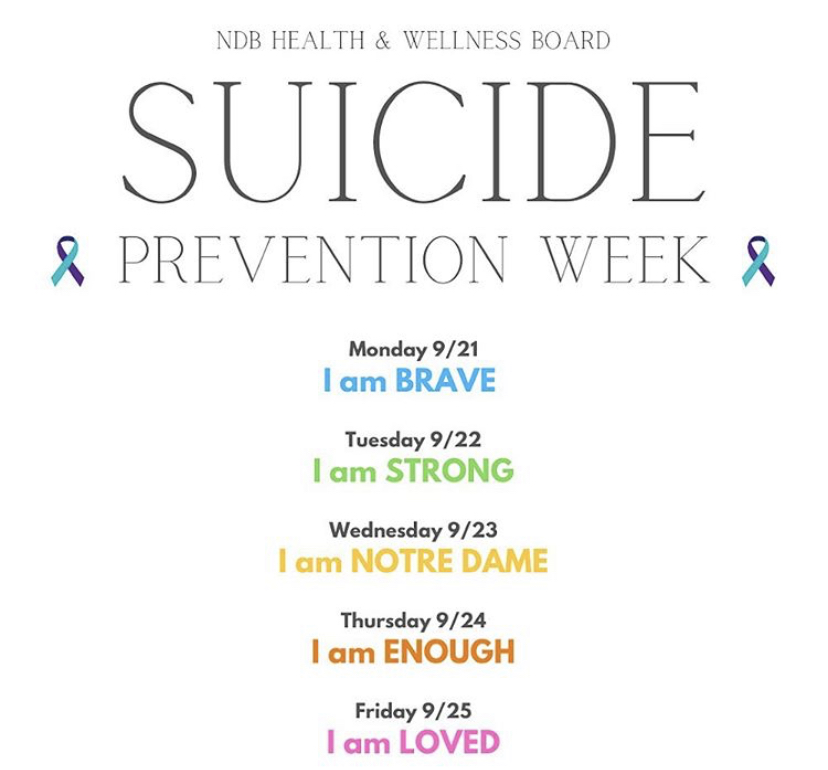 The NDB Health & Wellness Board created an initiative around Suicide Prevention Week to minimize the stigma around talking about suicide.