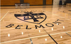 The NDB logo on the floor of the Moore Pavilion.