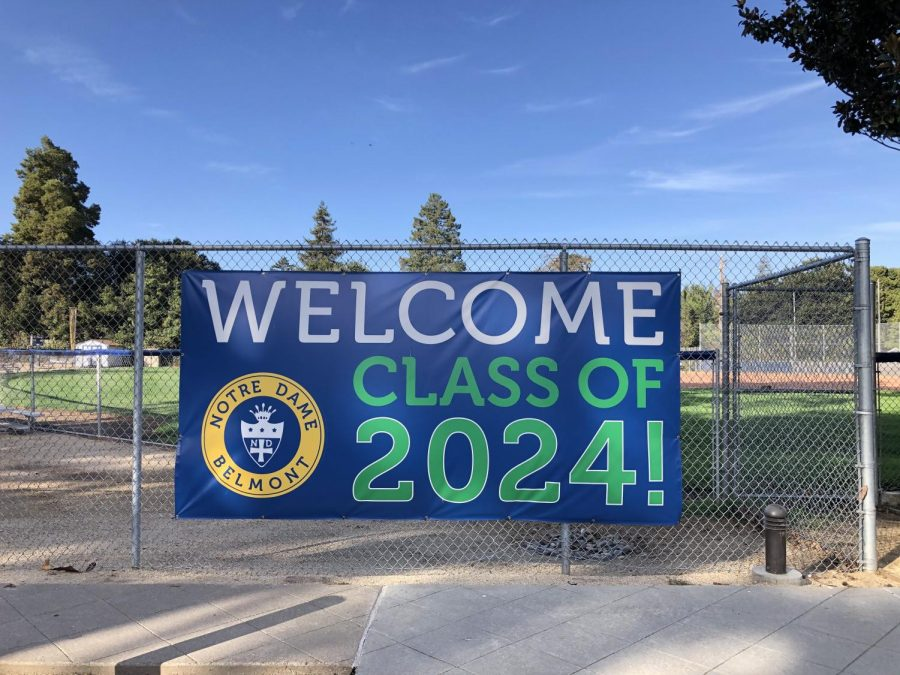 NDB hangs a Welcome sign on campus for the Dragons.