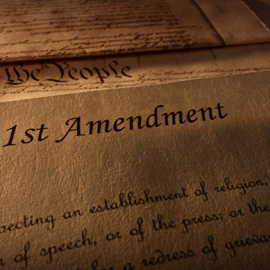 The First Amendment ensures free speech for US citizens, but not private school journalists.