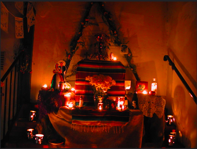 A traditional Mexican ofrenda is a key staple of Dia de los Muertos celebrations.