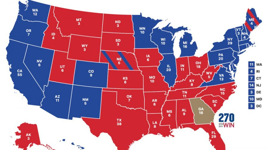 The 2020 Electoral College is mapped out a few days after Election Day.