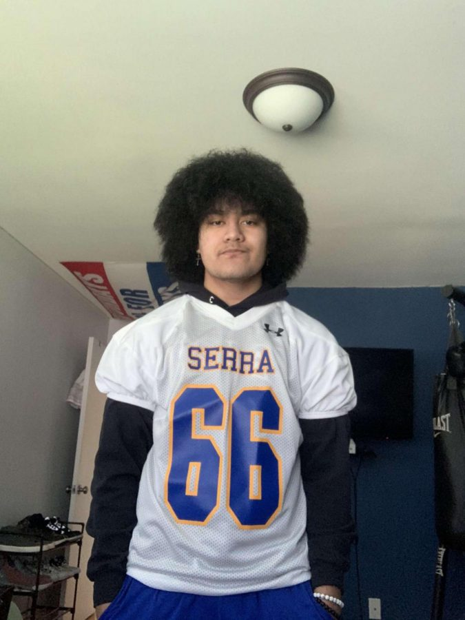 Stuart Raass in his Serra football gear.