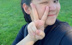 NDB sophomore Jennifer Jin takes a fun selfie while enjoying being outside.
