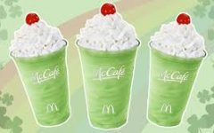 McDonalds releases their annual Shamrock Shake