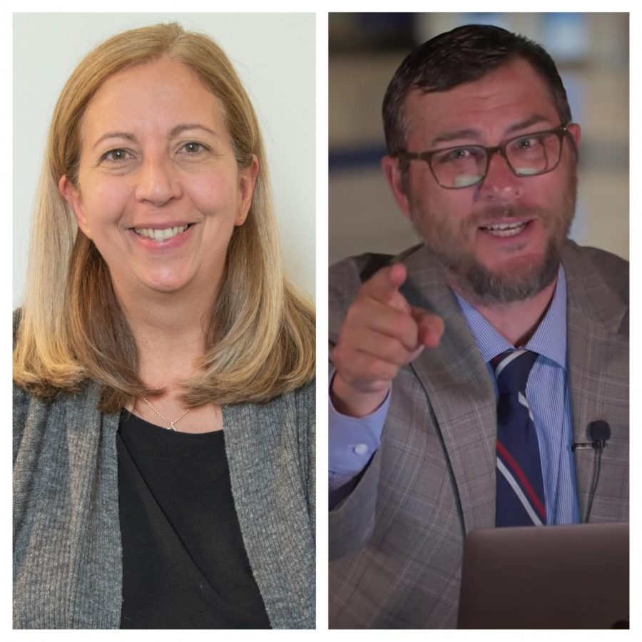 Dr. Linda Kern (left) and Jason Levine (right) serve as NDB's new Interim Head of School and Interim Academic Dean, respectively.