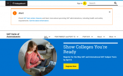 Students who register for the SAT online can only do so through College Board.