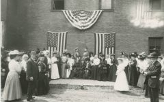 A scene from the 1848 Seneca Falls Convention, the first ever for U.S. women's rights.