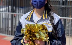 Senior Alyssa Enriquez ready to cheer at her last game on April 3rd at Serra HS.