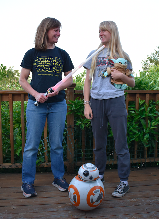 Junior+Clair+Sapilewski+and+her+mother+proudly+wear+their+Star+Wars+gear+to+celebrate+May+4+and+the+legacy+of+the+franchise.