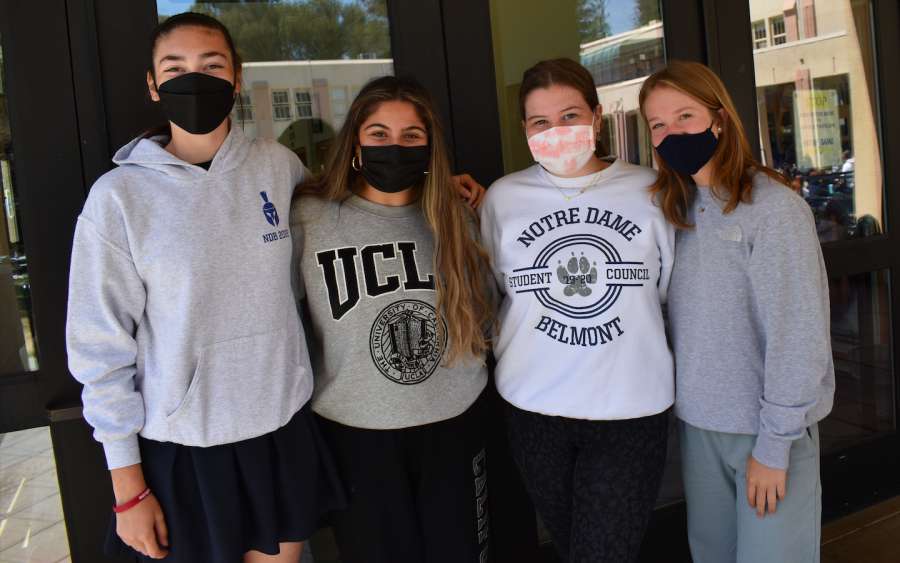 Sophia Dinelli, Nikka Ahani, Alison Lewis, and Stella Juanich are four of next year's ASB.