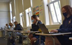 US History students work on their final paper during class.