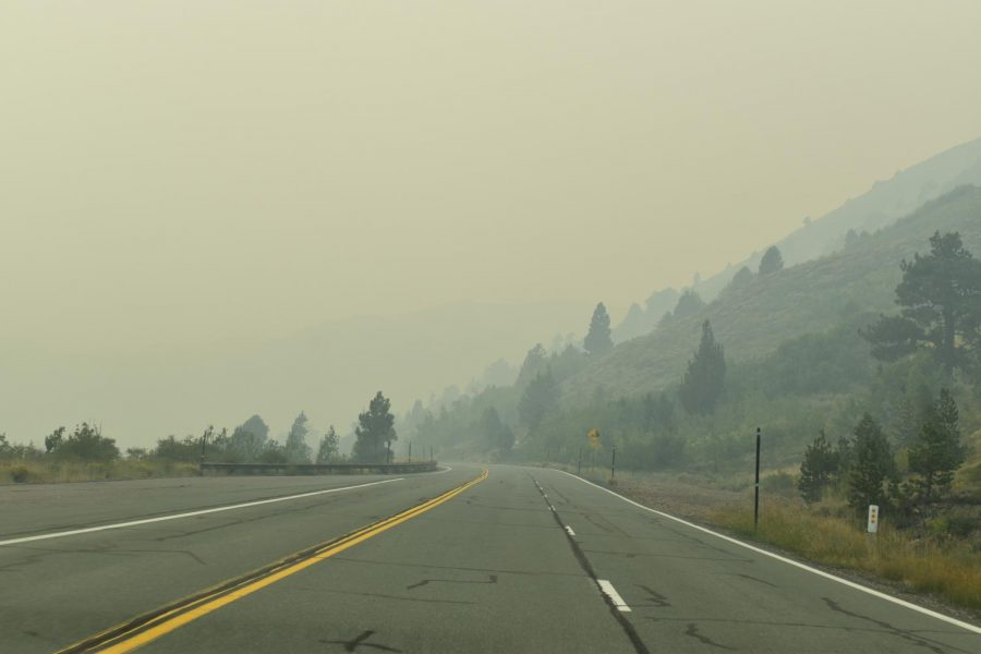 Fires and their smoke make air in California a grey haze.