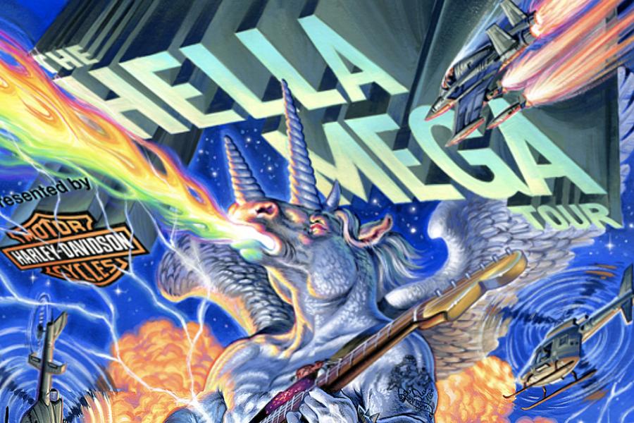 Hella Mega was in San Francisco on August 27, 2021.