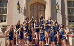 The NDB cross country team poses for annual team photo.